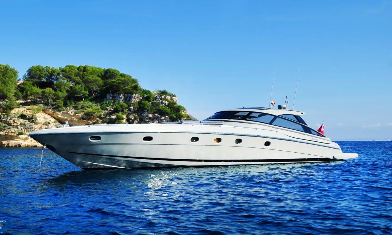 Charter 63' Baia Azzurra Power Yacht in port Adriano, Illes Balears