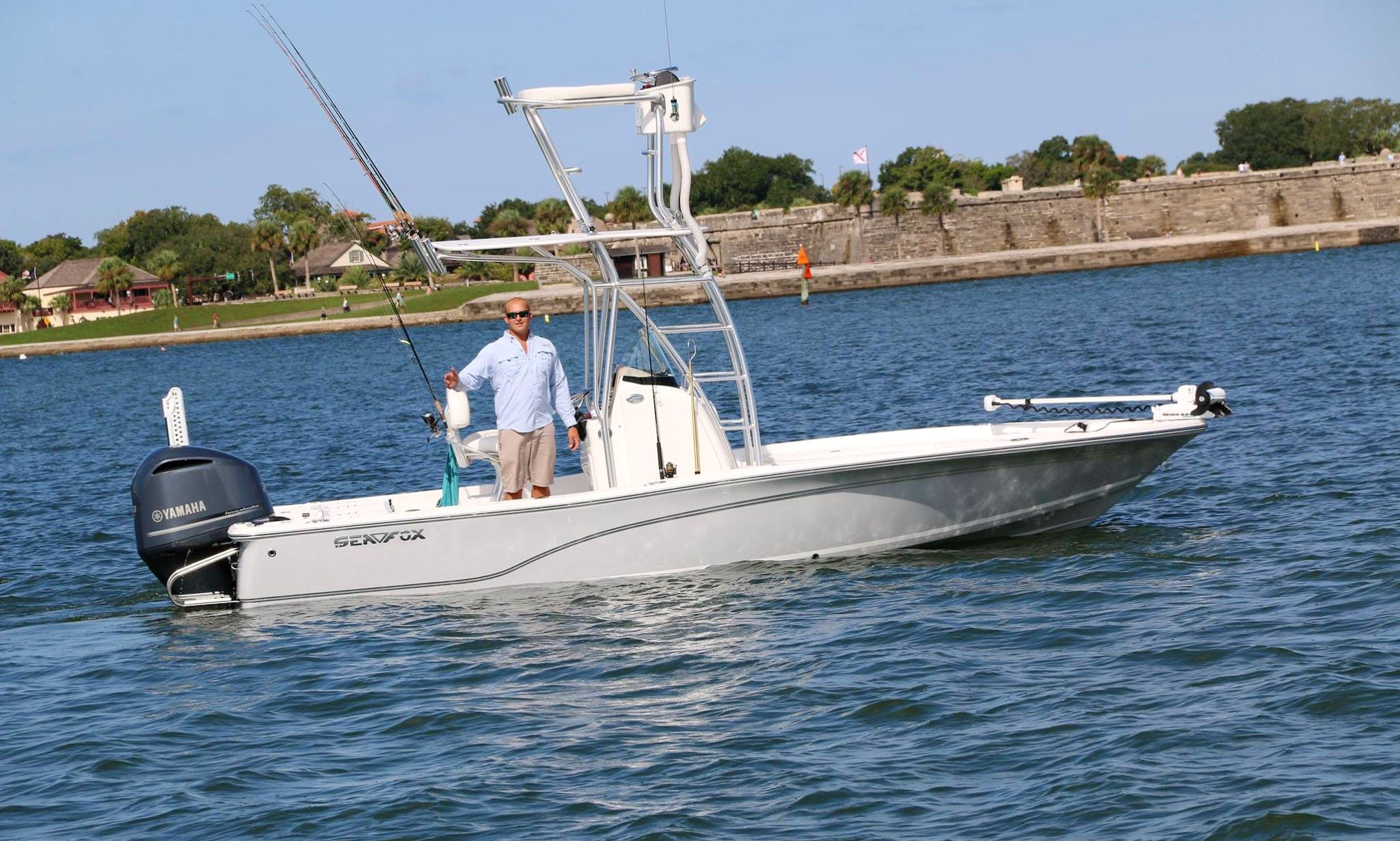 Fishing Charters On A 25' Sea Born Center Console In St. Augustine, FL