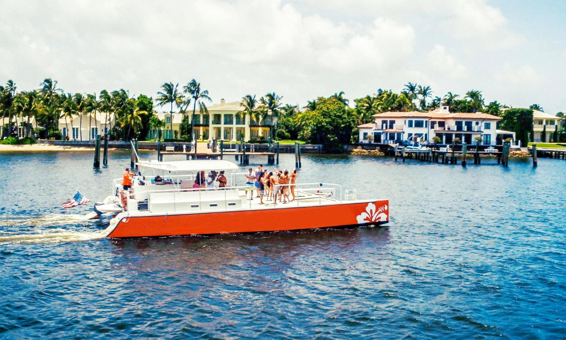 2 Hours Sightseeing Cruise aboard a 50′ Catamaran in West Palm Beach