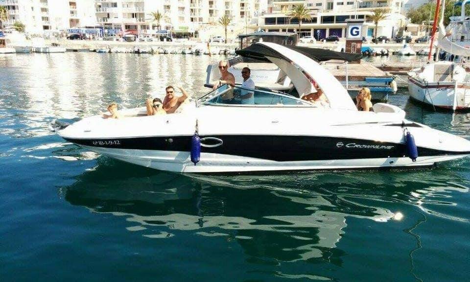 Crownline E6 Motor Yacht Charter for 9 Person in Sant Antoni de Portmany