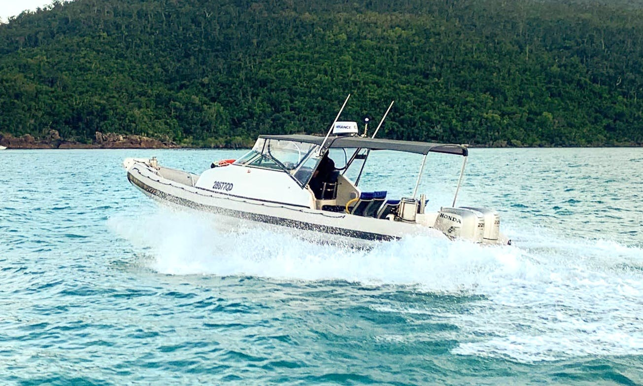Charter 28' Jupiter Rigid Inflatable Boat in Whitsundays, Australia