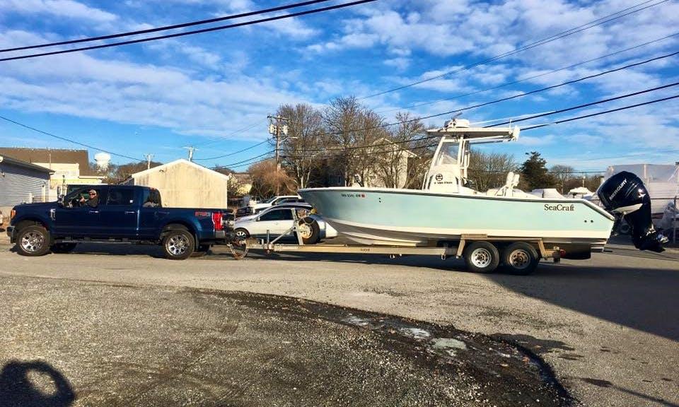 26' SeaCraft Master Angler Fishing Charter in Truno, Massachusetts