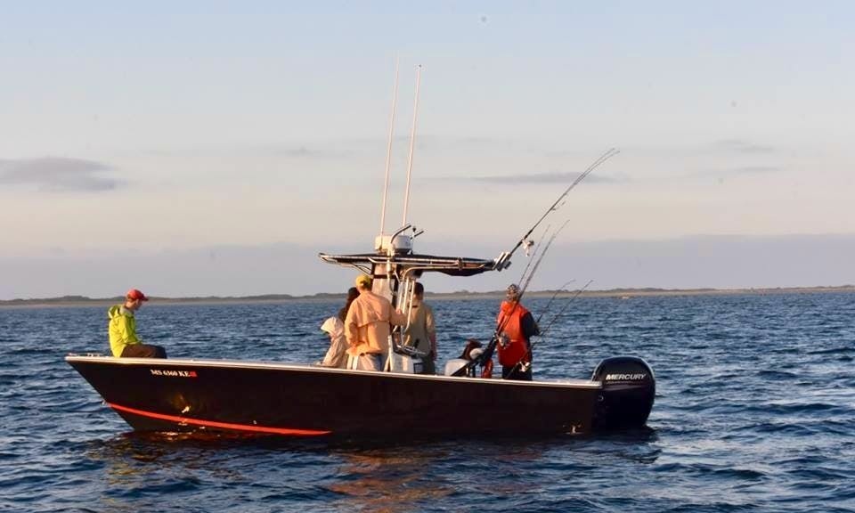 23' SeaCraft Classic for Striped Bass and Tuna Fishing in Truno with Captain Bobby