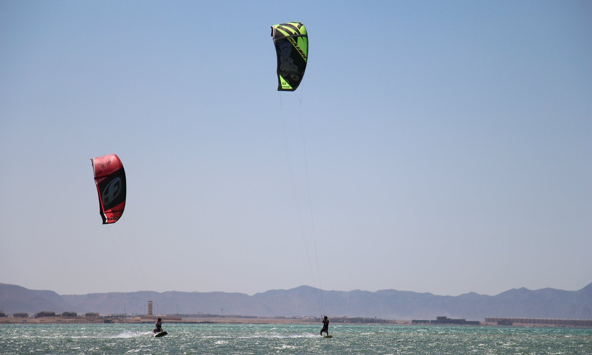 Kiteboarding with IKO-instructor of Kite-Active Team in Red Sea Hurghada