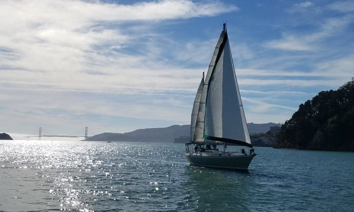 Captained Classic Ketch in San Francisco Bay