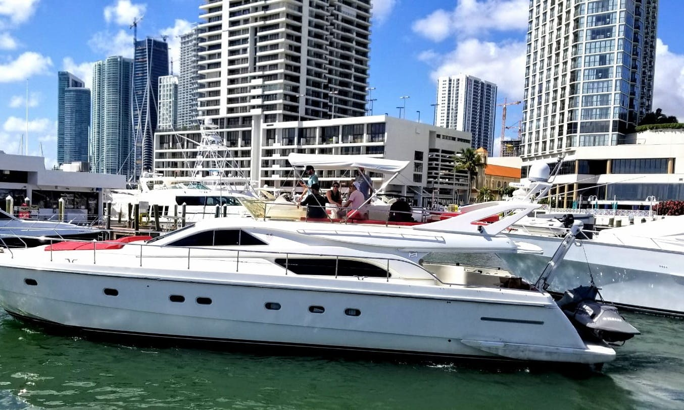 64 foot Ferreti Motor Yacht rental in Miami