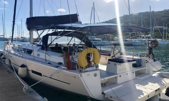 Take a voyage with Dufour 500 Grand Large with A/C in Marigot, St. Martin