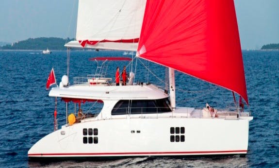 Crewed Charter on Sunreef 70 Cruising Catamaran in Marigot, St. Martin