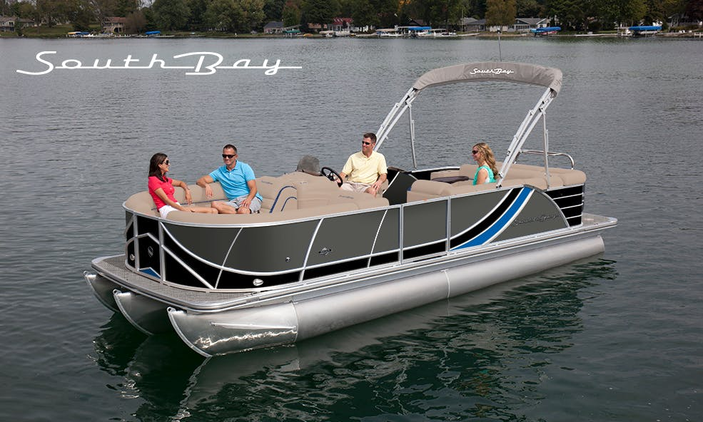 13 Person SouthBay 150HP Tritoon for Rent on Gun Lake