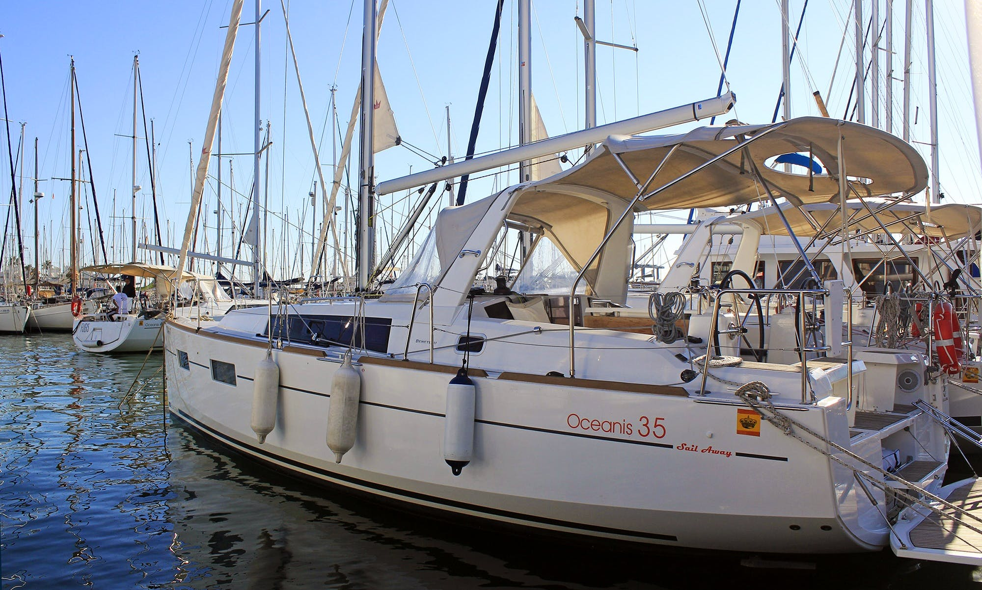 Captained & Bareboat Charters on this Beneteau Oceanis 35