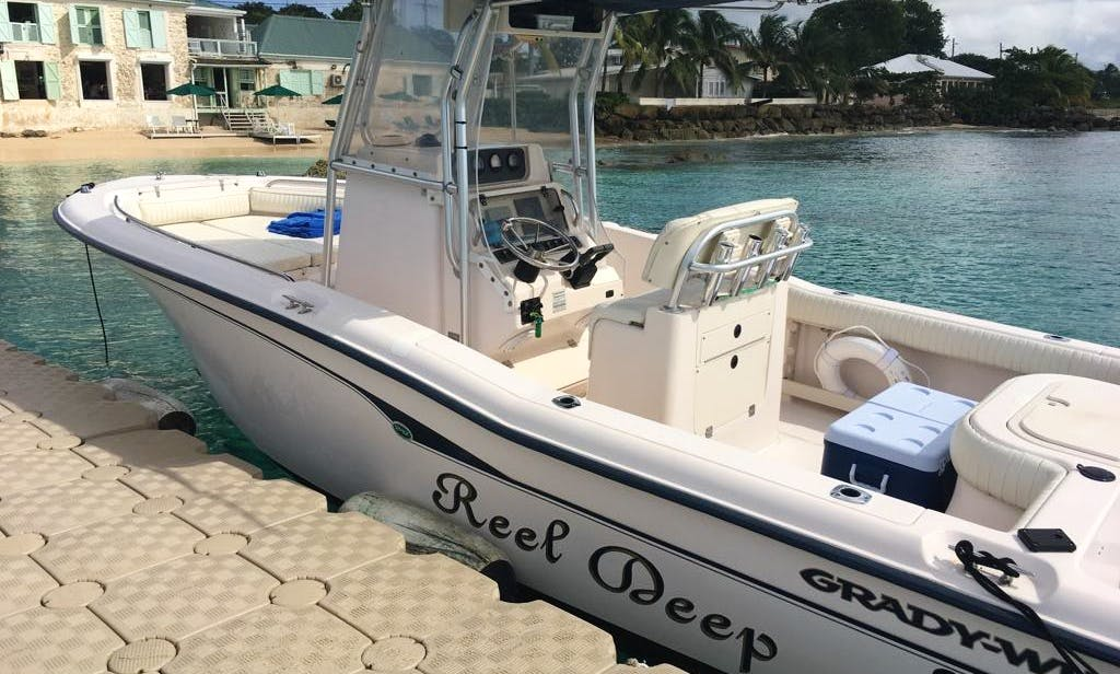 🚤Grady White Advanced 247 Center Console Boat Rentals in Holetown, Barbados