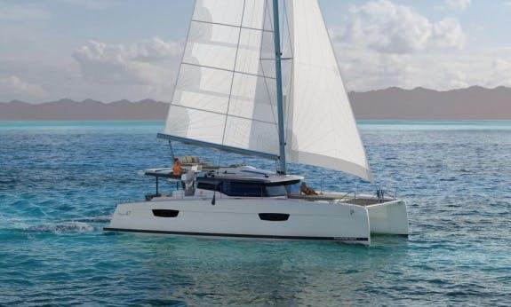 Brandnew and Dynamic Saona 47 Sailing Catamaran for 10 Passengers in Langkawi