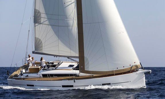 Exceptional Dufour 460 Grand Large for 10 People in Pozzuoli