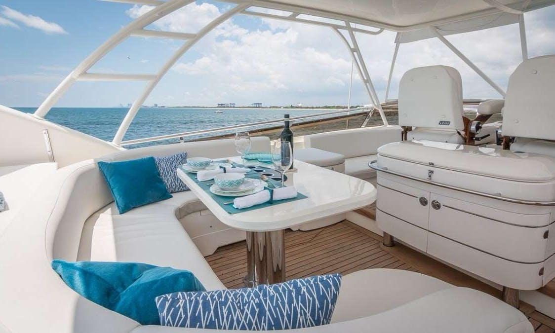 Crewed Charter on 75ft Princess Mega Yacht in Miami