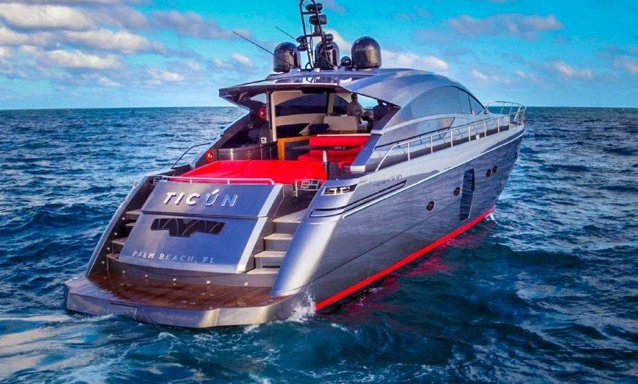 Crewed Charter the 64' Pershing Luxury Super Yacht in Miami Beach
