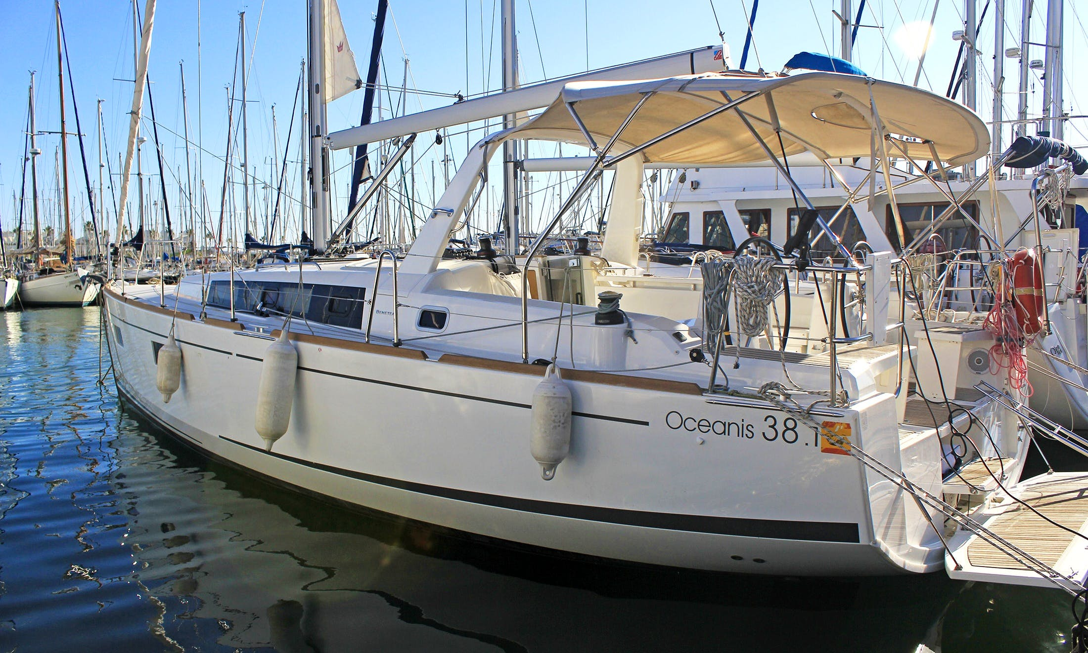 Charter the brand new Beneteau Oceanis 38.1 Sailboat in Mallorca, Spain