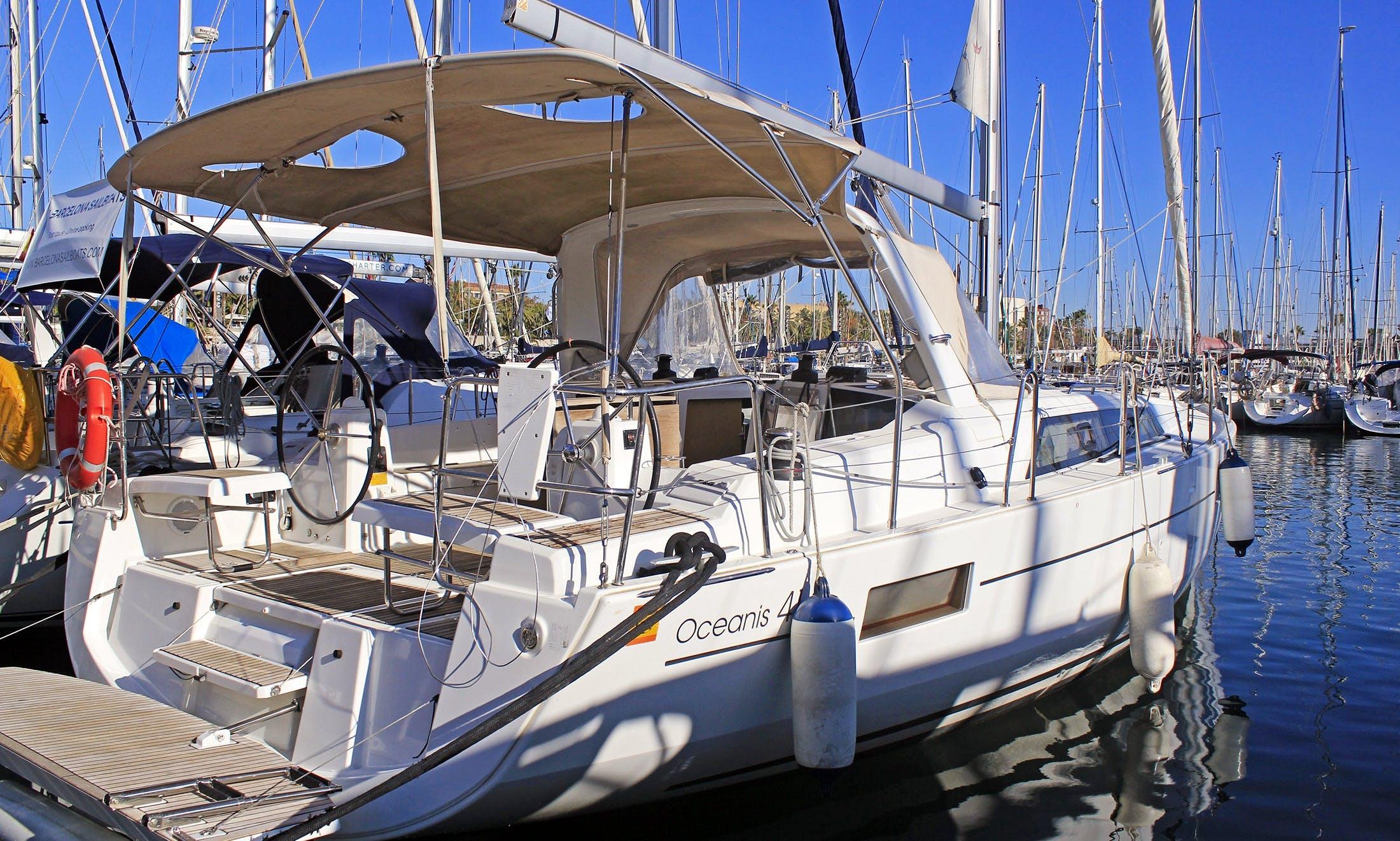 Charter a Beneteau Oceanis 41.1 Sailing Yacht in Mallorca, Spain!