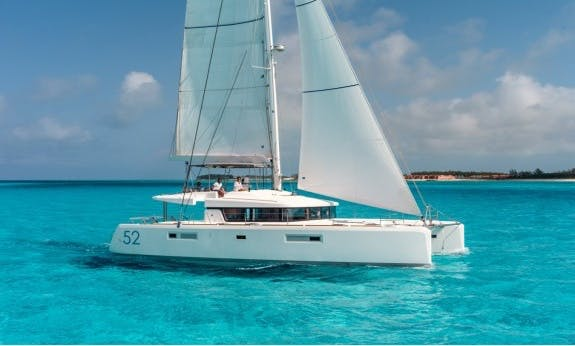 Lagoon 52 Flybridge Catamaran with Watermaker and A/C in Saint George