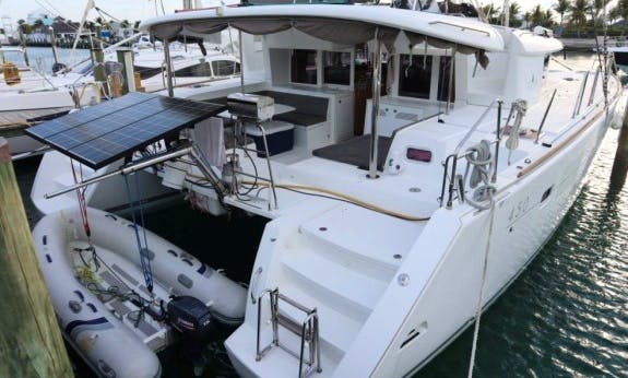 """2013 Lagoon 450 """"Halia"""" Catamaran in Nassau, The Bahamas"""