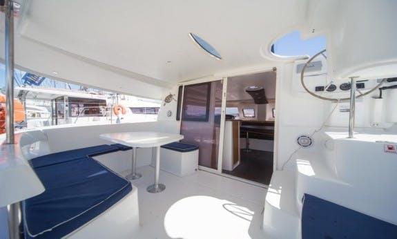 Amazing Lipari 41 Evolution Cruising Catamaran Rental In  Olbia, Sardinia