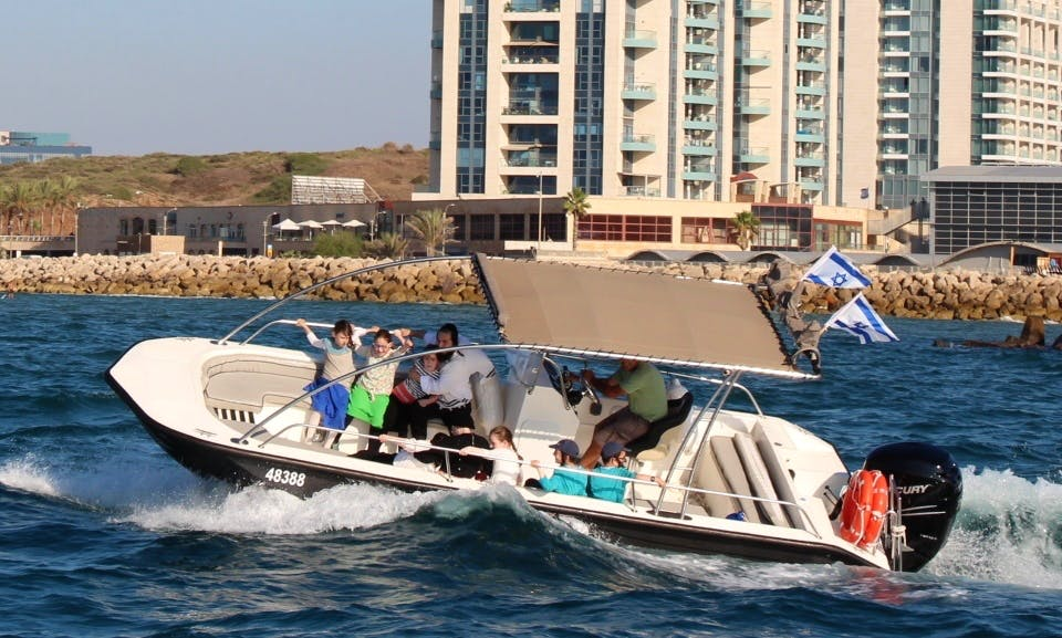 2018 Deck boat rental in Herzliya