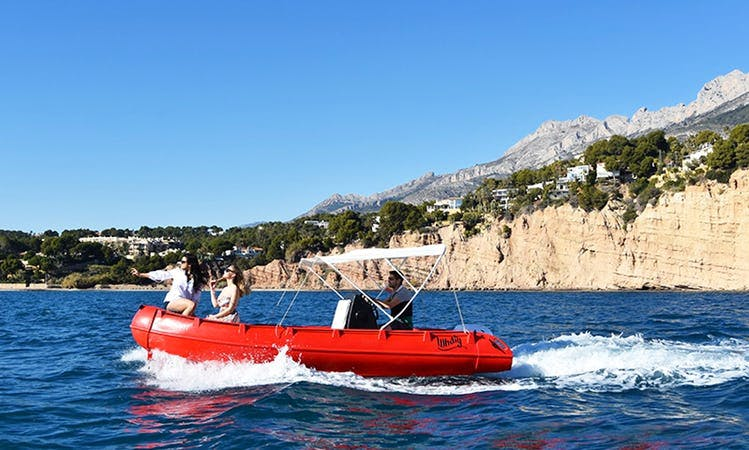 Whaly 500 Powerboat with 15 CV Outboard with or without License in Spain