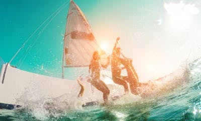Cruising Monohull for Sailing Lessons or Snorkel Day Charters on the East Coast of Puerto Rico