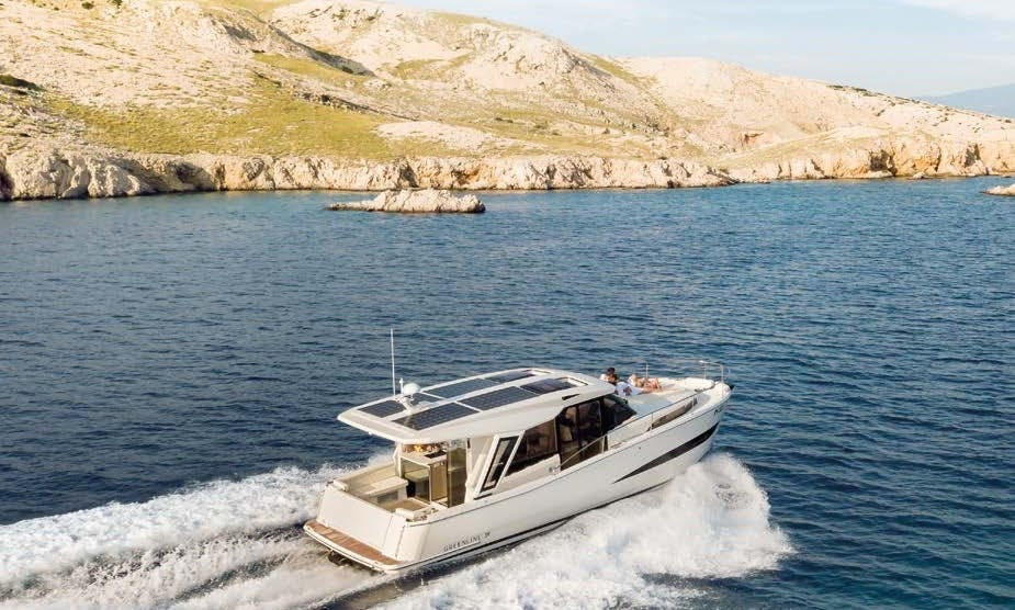 Greenline 33 Hybrid Power Yacht Charter with Water Toys in Palma, Mallorca