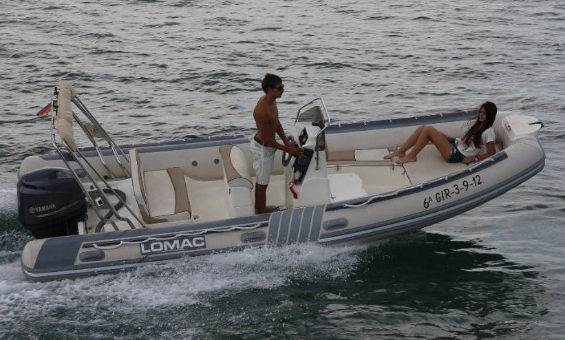 20' Lomac Inflatable Boat for 5 Passengers in Paros, Greece