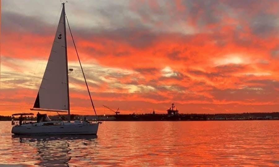 Sunset Sail aboard a Beneteau Oceanis 40 Sailing Yacht