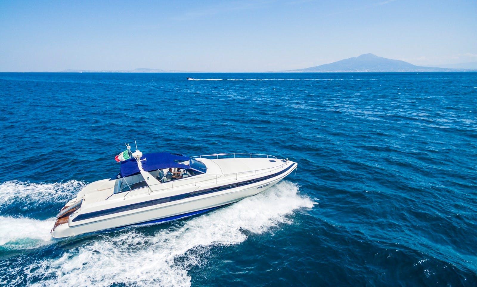 Conam 52 Motor Yacht on Amalfi Coast in Italy