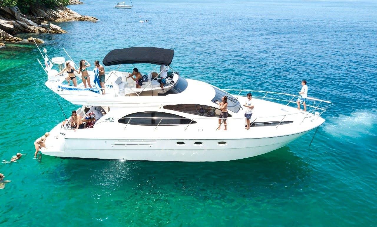 Azimut 46 Flybridge Motor Yacht Charter in Puerto Vallarta, Mexico