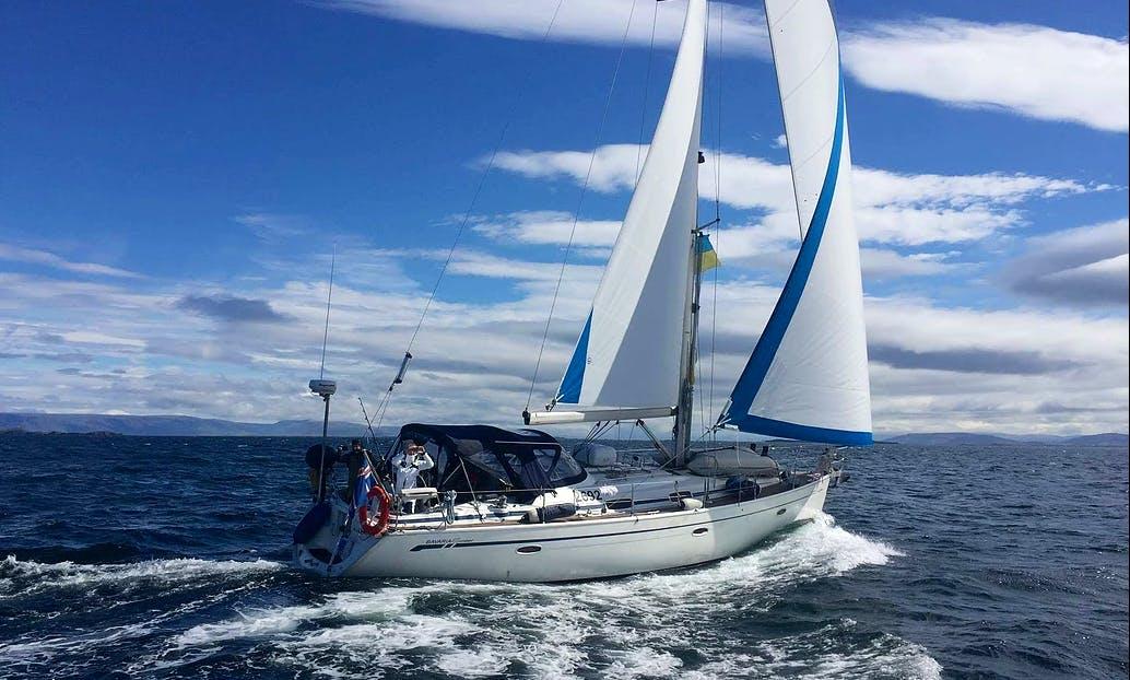 """Charter The 42ft """"Evra"""" Bavaria Cruising Monohull In Reykjavík, Iceland"""
