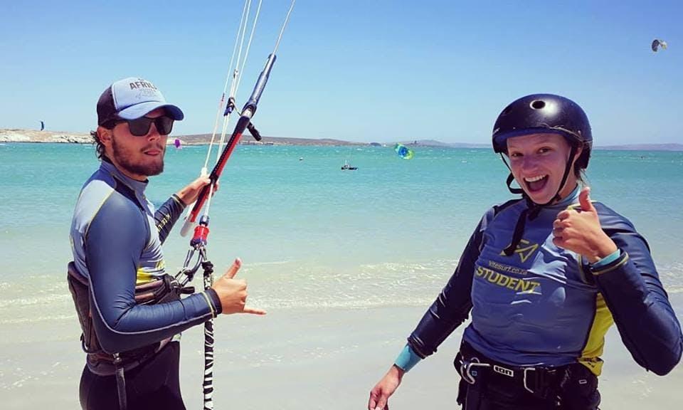 Kiteboarding Lesson with Duotone Kiteboarding Gear and IKO Certified Instructor in Langebaan
