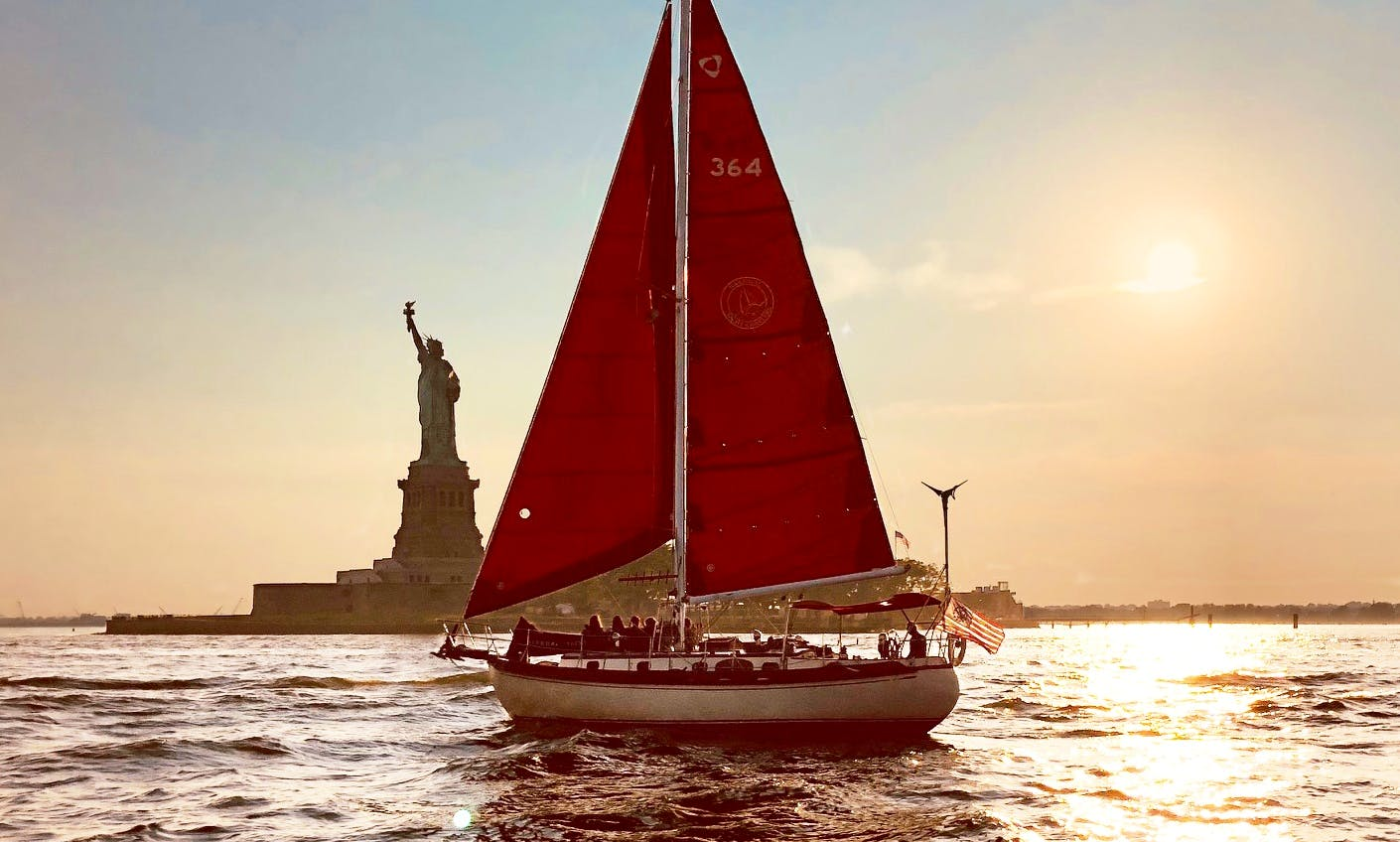 Sail NYC's skyline aboard the Genesis, a beautiful classic sailboat!
