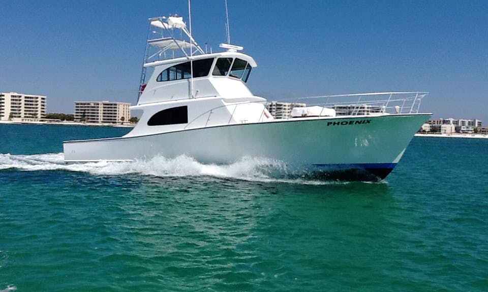 55' Sportfisherman Charter in Destin with Captain Scott