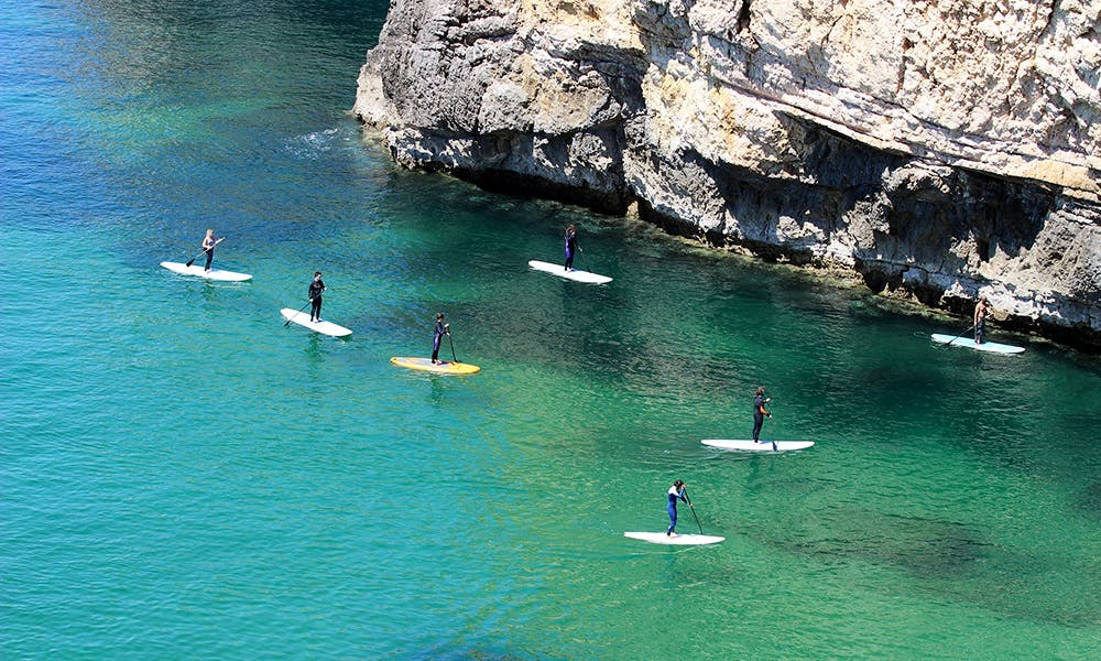 Stand Up Paddle Cave Tour South West Coast Algarve