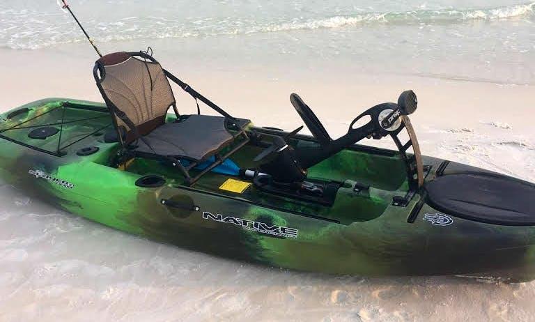 Pedal Drive Fishing Kayak rental in Destin