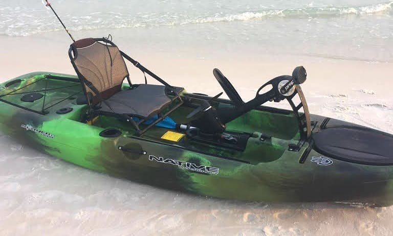 Pedal Drive Fishing Kayak rental in Destin