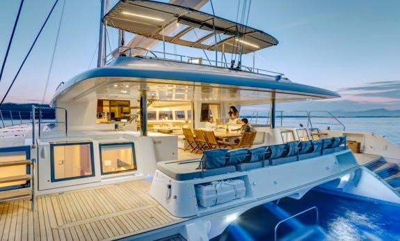 Reserve The 2020 Lagoon 620 Sailing Catamaran With A Crew In Corsica, France