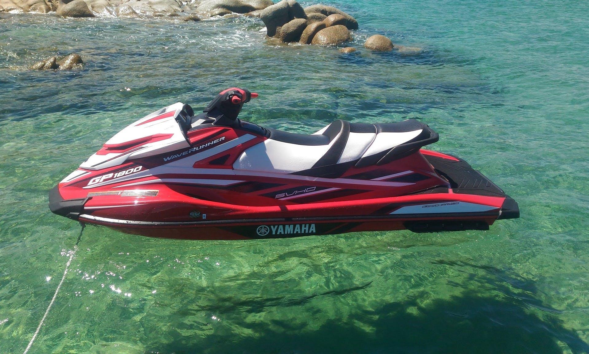 Jet Ski  YAMAHA GP1800 rental in Liscia di Vacca - Porto Cervo - Sardinia