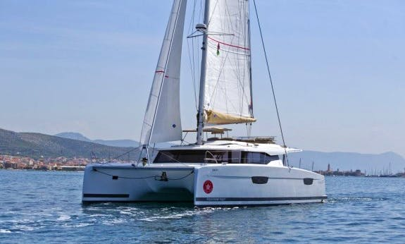 Charter this 12-Person Saona 47 with A/C Cruising Catamaran in Trogir, Croatia