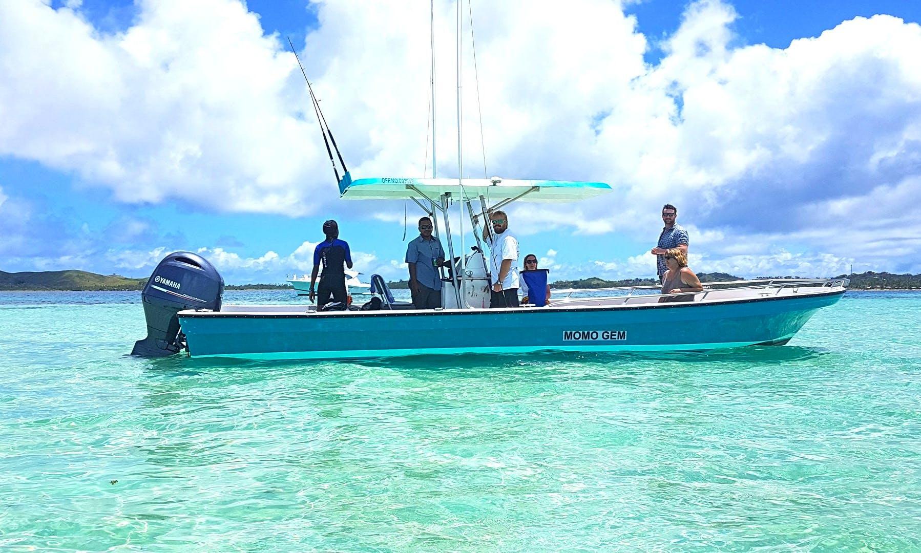 Go Fishing On 28ft Fibre-Glass Center Console In Denarau Island, Fiji