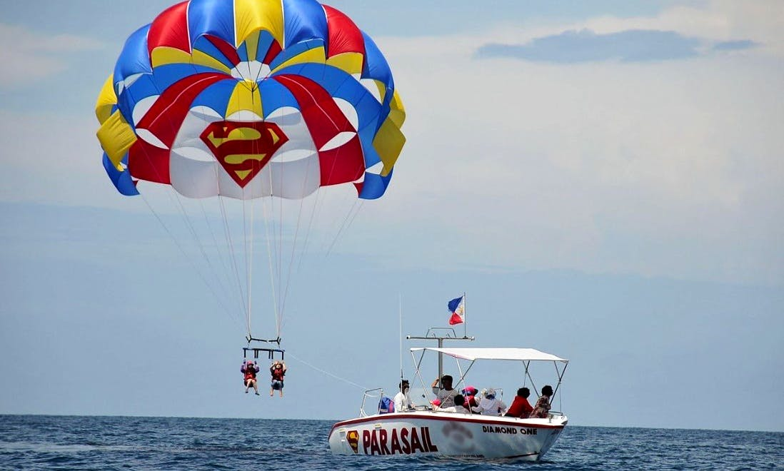 Parasailing Rides on Boracay Islands, Philippines