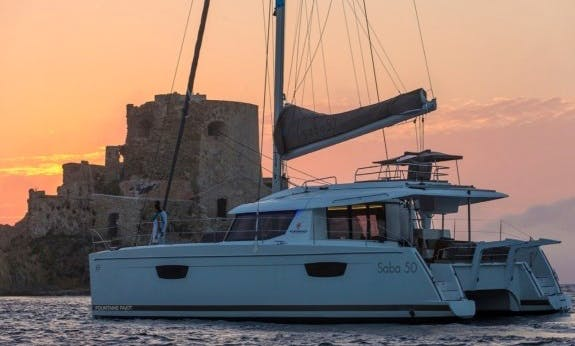 Cruising Catamaran Saba 50 Bareboat Charter for Up to 12 People in Trogir, Croatia