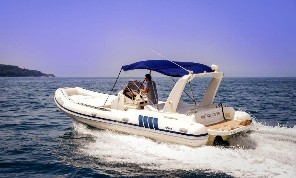 Rubber dinghy rental in Sorrento