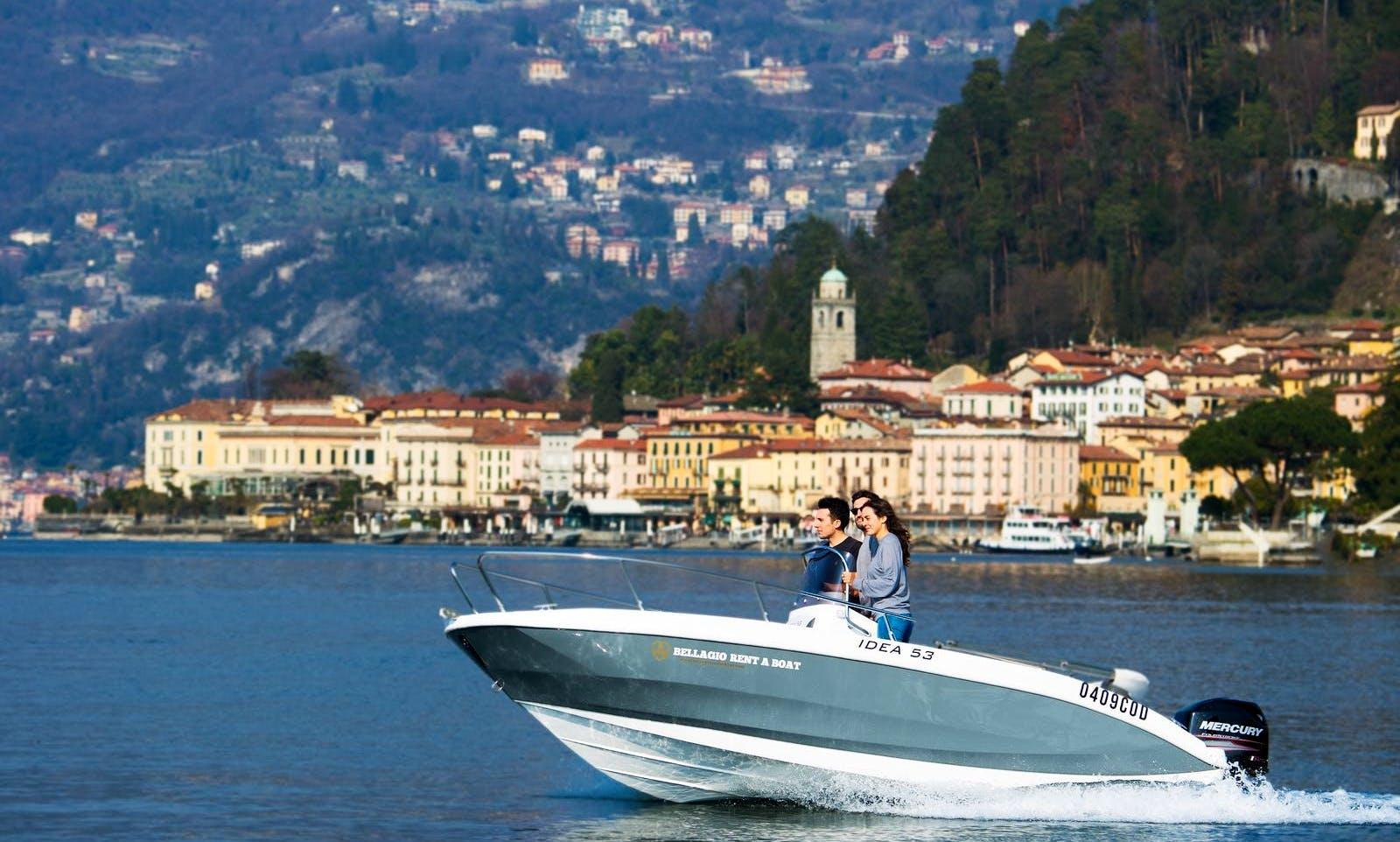 Deck Boat rental in Bellagio