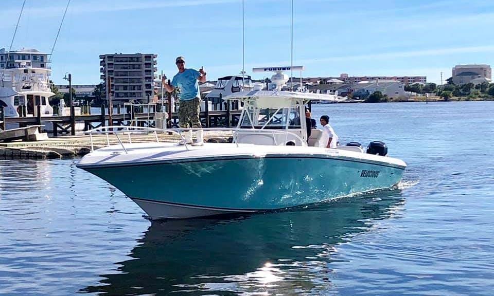 Fishing Adventure onboard Fountain 38 Tournament Edition Speedboat in Destin