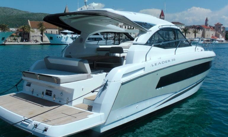 Amazing Charter Experience On Jeanneau Leader 36 Motor Yacht In Vallauris, France