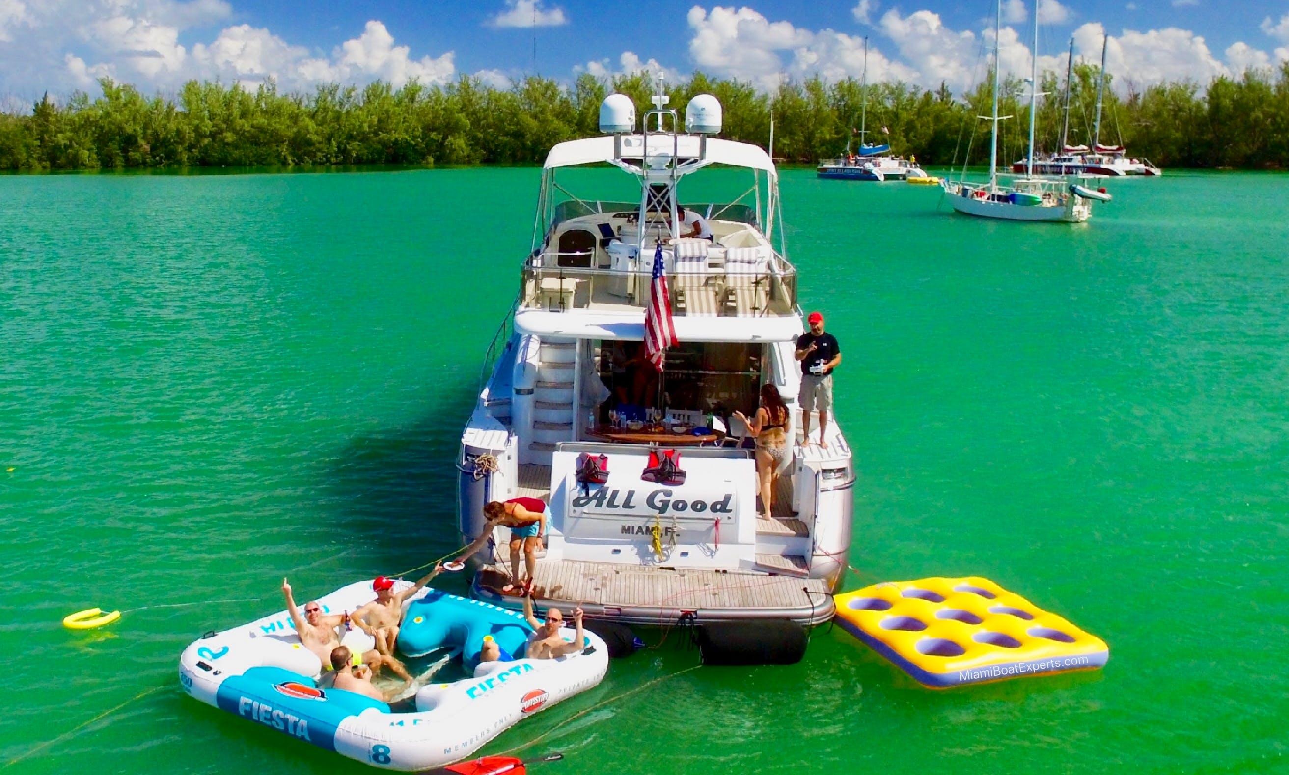 Miami Yacht Rental - 65' Princess - Charters Miami, Florida Keys & The Bahamas!